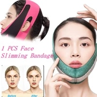 women ultra thin breathable chin cheek slim lift up mask v face line belt anti wrinkle strap band facial beauty shaping bandage