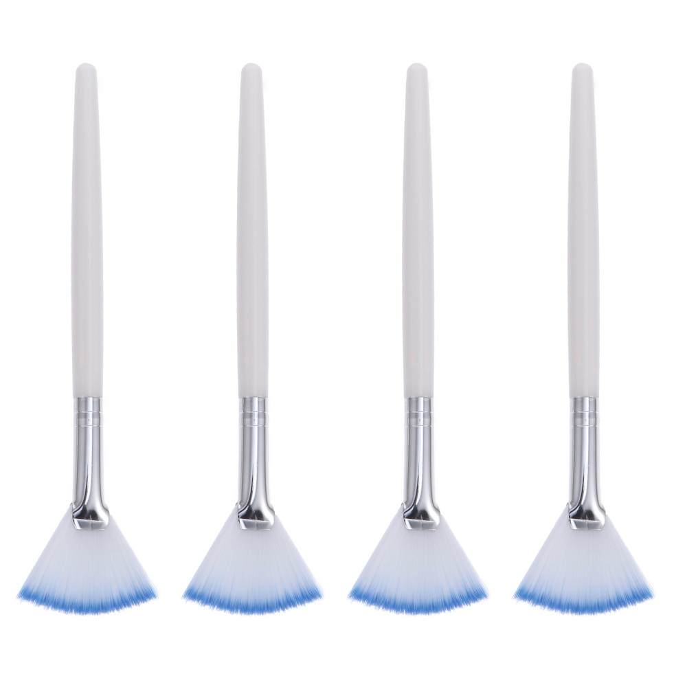 4pcs Portable Facial Brushes Fan Makeup Brushes Mask Brushes Cosmetic Tool