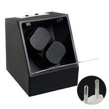 Double magasin rotatif alimenté par batterie avec adaptateur affichant automatique montre enrouleur boîte multifonction pratique mallette de rangement