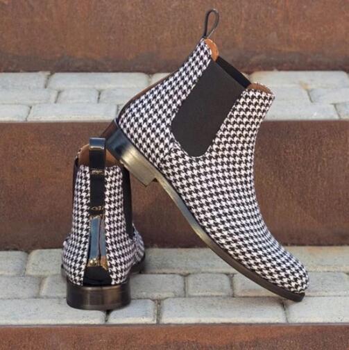 عالية الجودة موضة الرجال بولي Leather جلد عادي الأحذية الذكور عادية الكلاسيكية العصرية Vinage أنيق تشيلسي الأحذية Zapatos دي Hombre 4M417