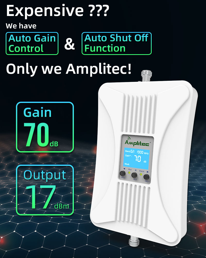 Amplitec Cellular Amplifier Repeater Mobile-Signal-Booster GSM 900MHz DCS/LTE 4G 1800MHz 2g 3g 4g Mobile Signal Booster Repeater enlarge