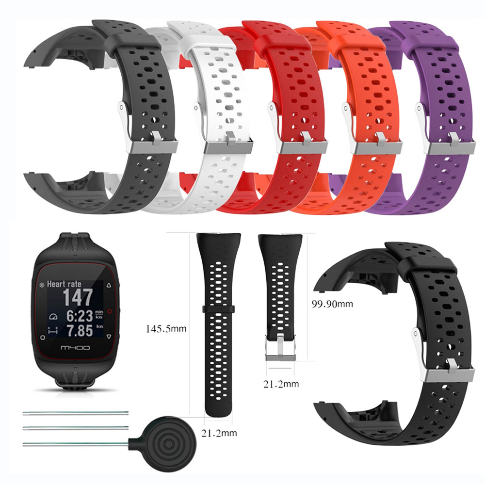 Wrist Band Strap for Polar M400 M430 Sports Smartwatch Soft Silicone Belt Replacement Bracelet Wrist
