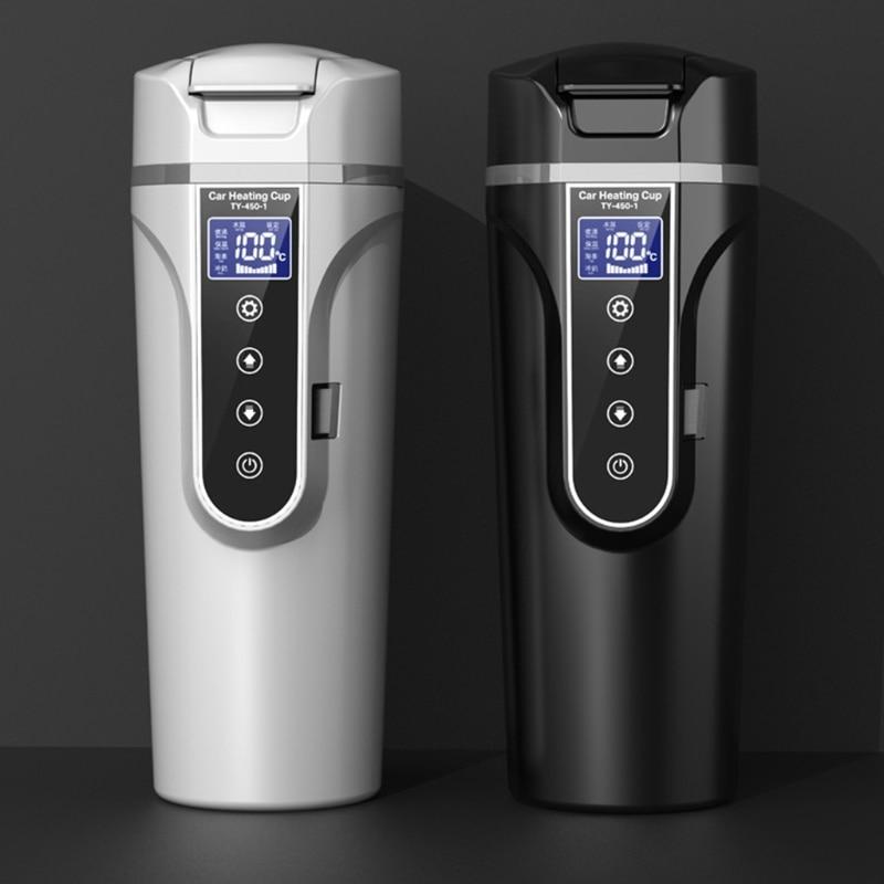 12 В 24 В портативная Автомобильная нагревательная чашка из нержавеющей стали грелка для воды бутылка автомобильный чайник R9CC
