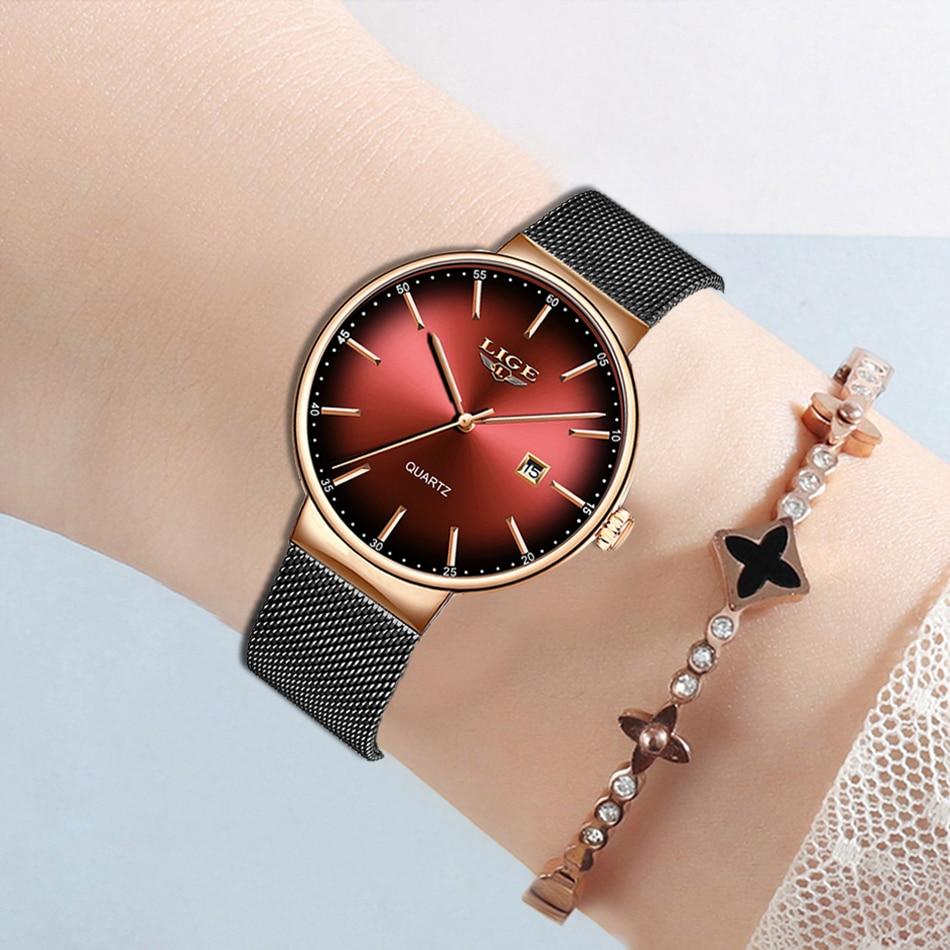 LIGE Brand Luxury Women Watches Fashion Quartz Ladies Watch Sport Relogio Feminino Clock Wristwatch for Lovers Girl Friend 2020 enlarge