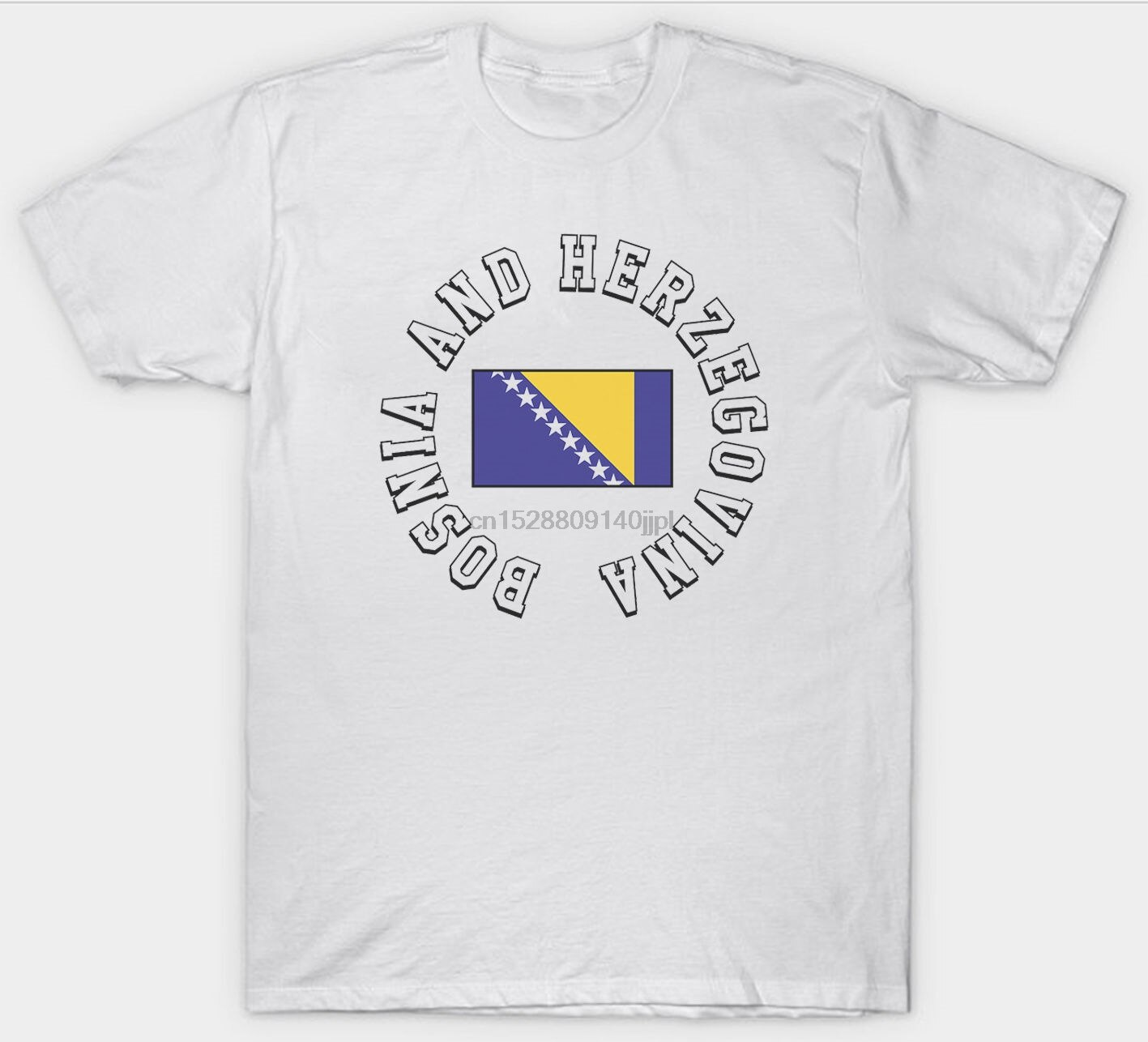 Bandera de BOSNIA Herzegovina T camisa UE país de Europa serbio SERBIA superior envío gratis camiseta
