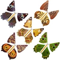 5pcs party magic trick toy fairy flying in the book butterfly rubber band powered wind up butterfly toy surprise gift for kids