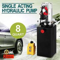12v 8L Double Acting Hydraulic Pump Dump Trailer Lifting Lift Remote Reservoir for Dump Trailer