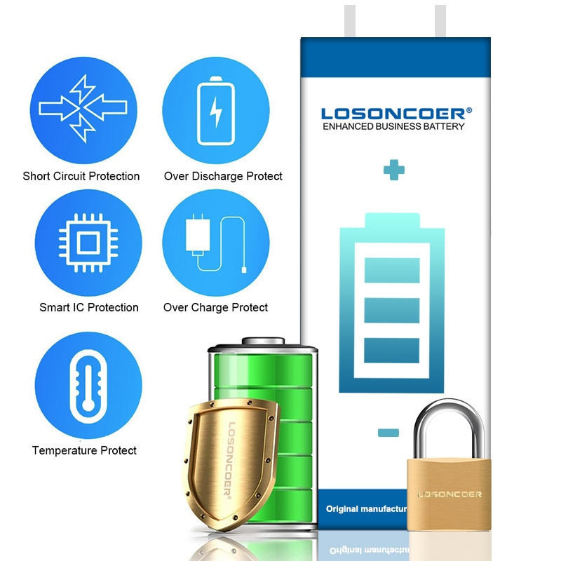 LOSONCOER 5500mAh BN59 Battery For Xiaomi Redmi NOTE 10 Mobile Phone Battery enlarge