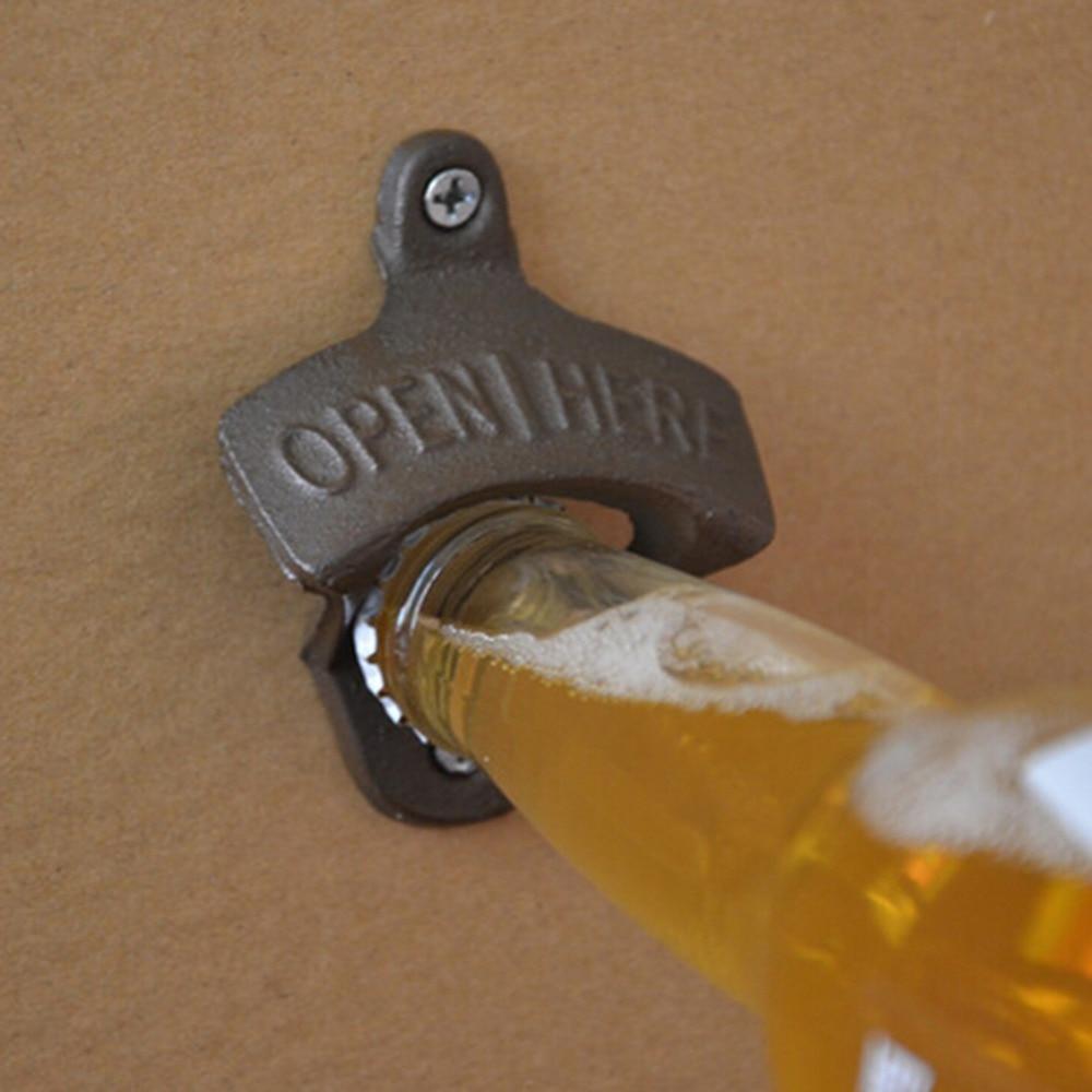 Vintage Antique Style Bar Pub Beer Soda Top Bottle Opener Wall Mount Kitchen Gadgets Dining & Bar Beer Opener