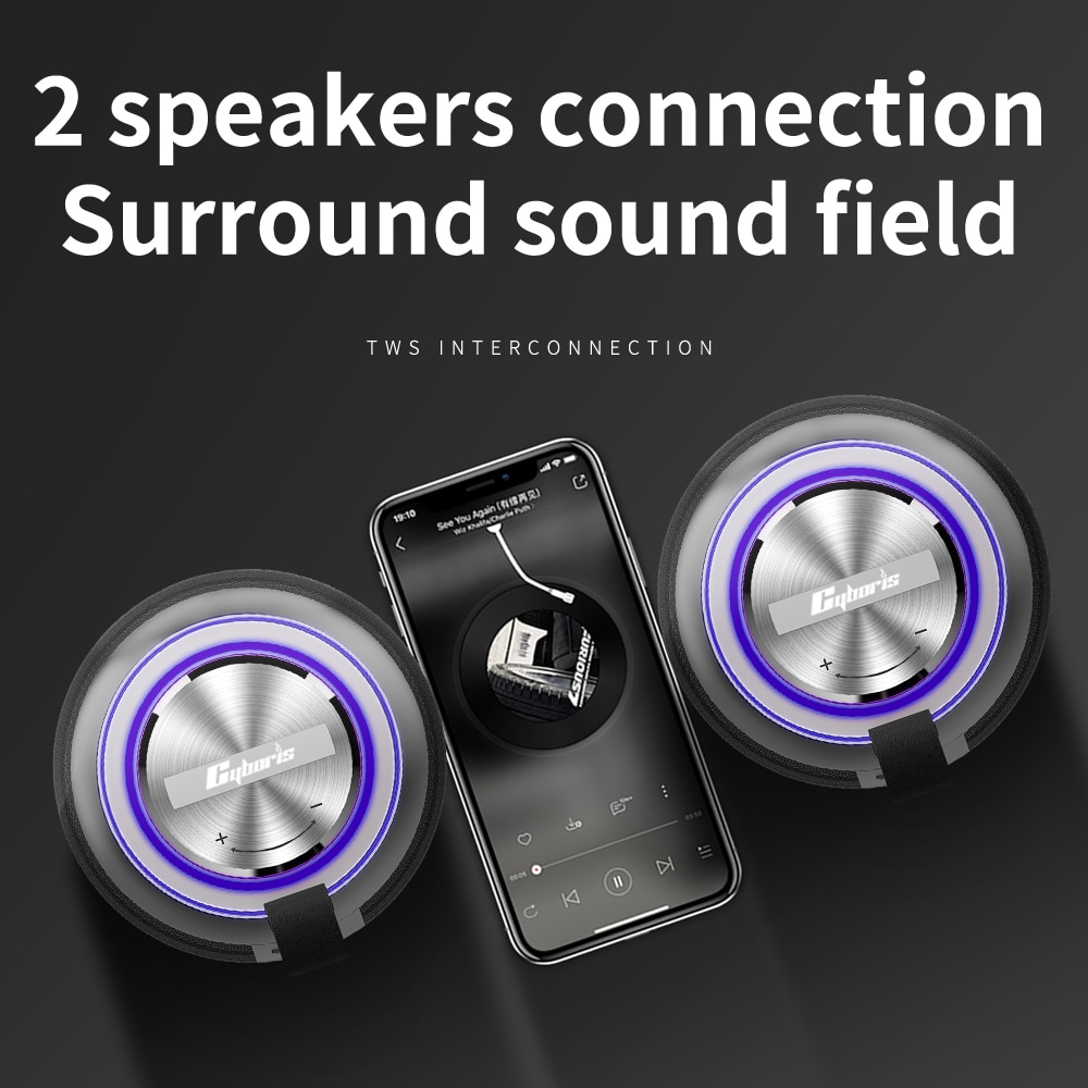 60W High Power Bluetooth Speaker Waterproof Portable Column For PC Computer Speakers Subwoofer Boom Box Music Center Radio TF enlarge