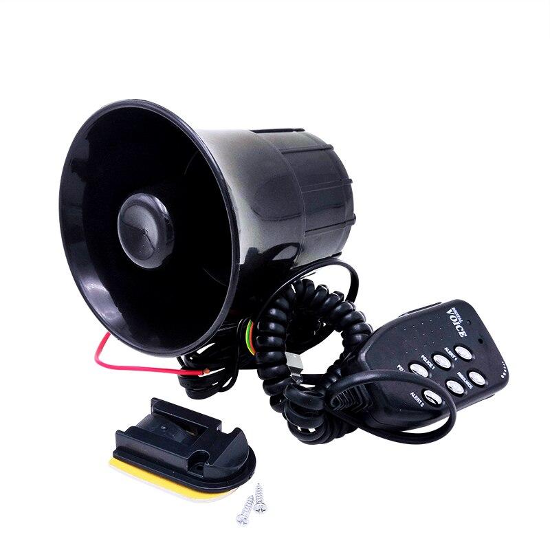 بوق عالمي مع فم دائري للدراجات النارية والسيارات والشاحنات ومكبر الصوت ، بوق 6 نغمات ، 12 فولت ، 50 وات ، أسود