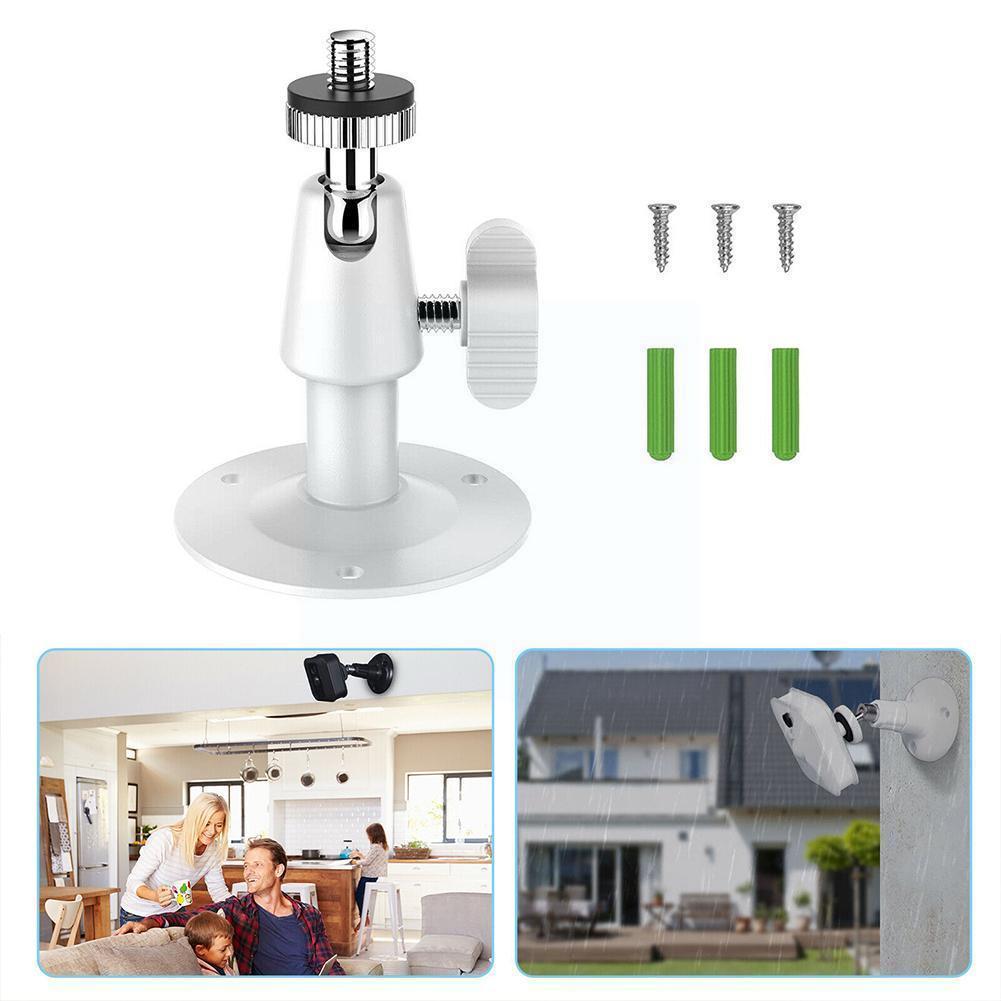 Металлический настенный поворотный кронштейн с поворотом на 90 градусов, подставка для видеонаблюдения, держатель для белой камеры видеона...