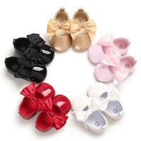 newborn baby girls princess shoes soft sole leather sneakers crib shoes bowknot non slip first walkers 0 18m