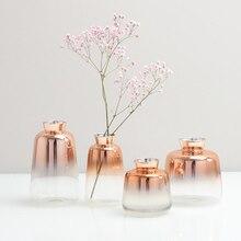 Vase en verre dégradé or Rose pour la décoration   Style nordique, pour la maison, le bureau, la maison, la maison ou la maison