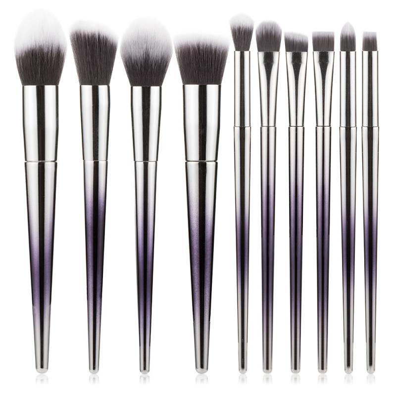 Juego de 10 brochas de maquillaje unids/set para base en polvo rubor sombra de ojos corrector labial brocha de maquillaje de ojos cosméticos herramientas de belleza TSLM1