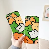 iphone case cute bear head suitable for iphone12promax apple 11 mobile phone shell xr silicone xxs tide 8plus female