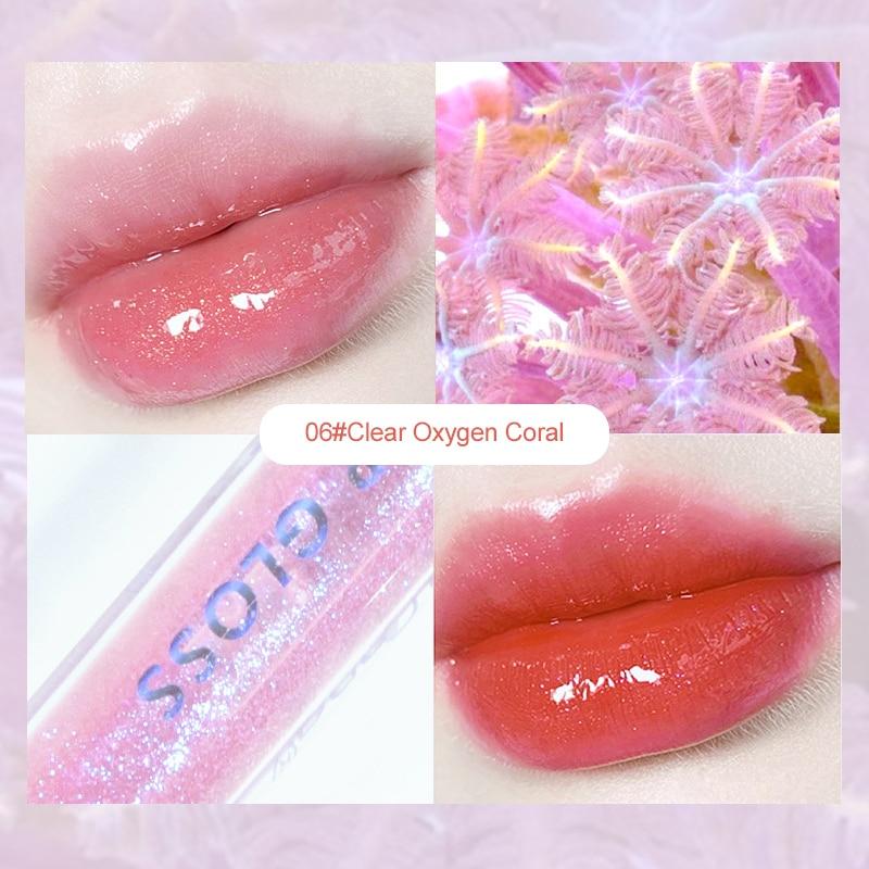 6 Colors Mirror Water Lip Gloss Lip Glaze Transparent Glass Lip Oil Liquid Lipstick Randomly Lipgloss Moisturizing Make Up