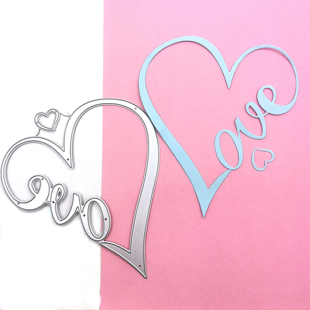 Julyarts Special Love Metal Dies Cutting for Scrapbooking Die For DIY Cards Stencil Paper Craft