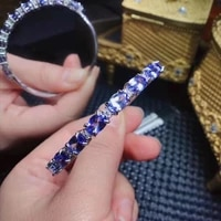 high pure quality new arrivel 100 natural real tanzanite bangle 925 sterling silver fine jewelry bangle