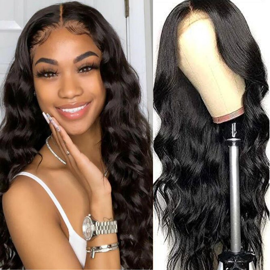 13x4 Lace Front Body Curly Wave Wigs For Black Women Remy Brazilian Human Hair Closure Long Hair Wig ALEESA Pre Plucked Hairline