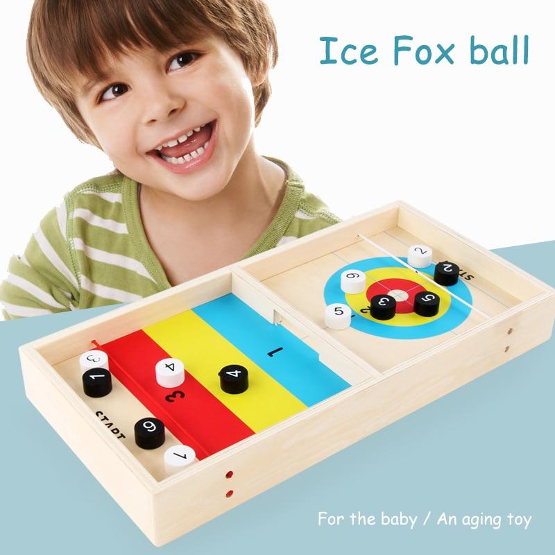 حار بيع سطح المكتب لعبة صغيرة خشبية هوكي الجليد الجدول ألعاب لعبة ممتعة للأطفال التنسيق البدني تدريب LBV