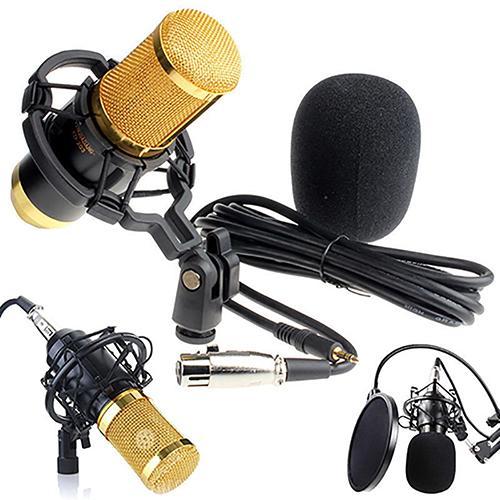 BM 800 condensador Pro Audio micrófono estudio de sonido micrófono dinámico + montaje de choque