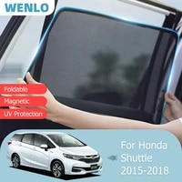 magnetic car sunshade front windshield door mesh frame curtain for honda shuttle avant 2015 2018 side window sun shade protector