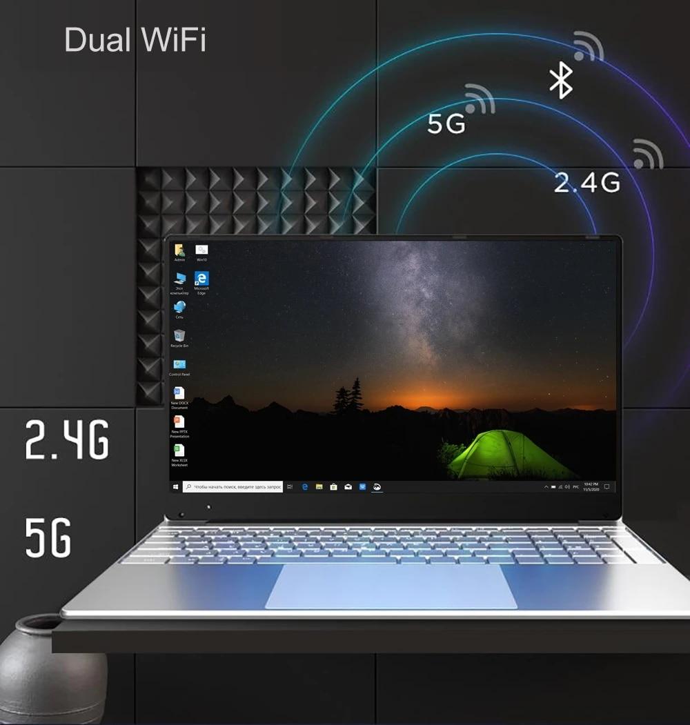 Intel Celeron J4125 15.6 inch Windows 10 Pro 1920*1080 Laptop 12GB RAM 128GB/256GB/512GB/1TB HDMI