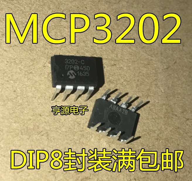 MCP3202 MCP3202-CI/P MCP3202-BI/P DIP-8