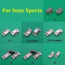 Prise de chargeur 2 pièces   Port de chargement pour Sony Xperia Z Z2 Z1 Compact Z Ultra XL39H S Lt26i T2 C4 C5 C6
