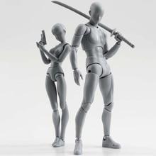 Body-Kun DX Body-Chan DX 액션 PVC SHF 피규어 그레이 컬러 Ver Figure In Box