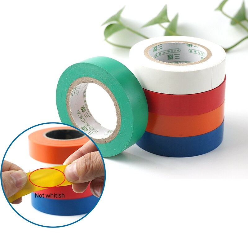 PVC impermeable auto-Cinta adhesiva eléctrica electricista de aislamiento ignífugo cinta plástica eléctrica de alta tensión
