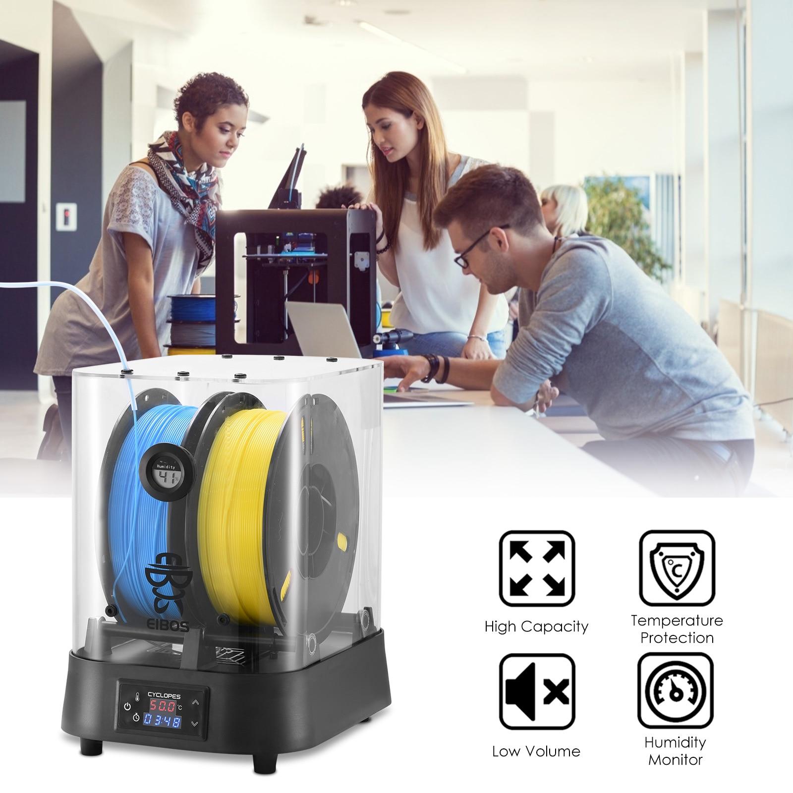 EIBOS Extra Large Dry Box Filament Dryer Compatible With 1.75mm 2.85mm 3.00mm 3D Filament Dry Fast Extra Large High Temperature