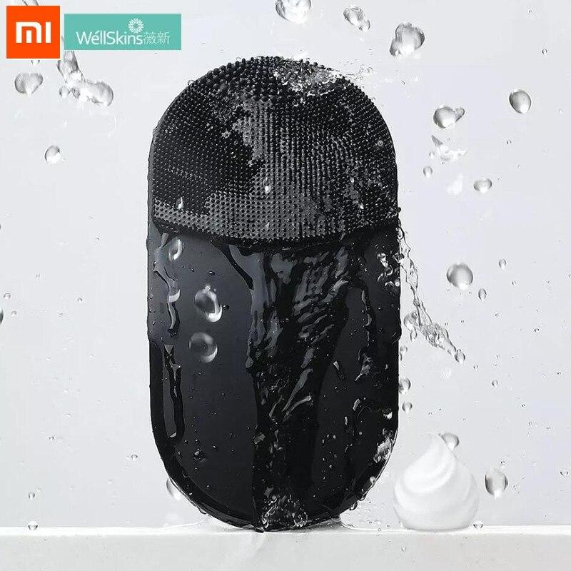 Cepillo eléctrico Xiaomi Wellskins para limpieza Facial profunda, cepillo de masaje, 10 niveles, Sónico, para lavado Facial, a prueba de agua IPX7, de silicona, limpiador Facial