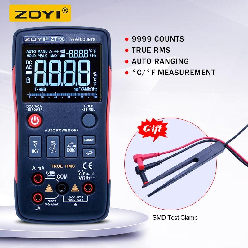 ZT-X True RMS Digital Multimeter Auto Range AC/DC Ammeter Voltmeter Resistance Capacitance Diode NCV with a triple display