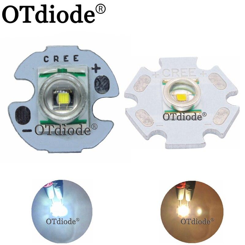 1 pcs cree xre q5 led xlamp cree xr-e q5 led branco quente neutro frio amarelo 3 w led emissor de luz montado em 16mm/20mm pcb