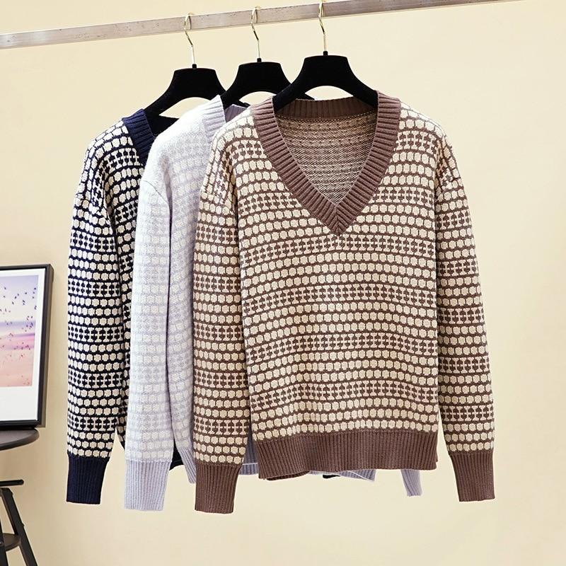 HLBCBG толстый оверсайз женский осенне-зимний пуловер свитер верхняя одежда жаккардовый вязаный джемпер Повседневный теплый женский свитер Т...