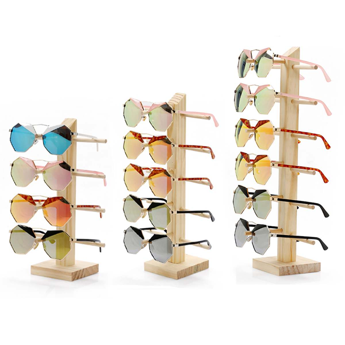 4/5/6 Layer Solid Wood Sunglasses Rack, Eyeglass Rack, Jewelry Display Rack, Used For Multiple Pairs Of Glasses Cabinets