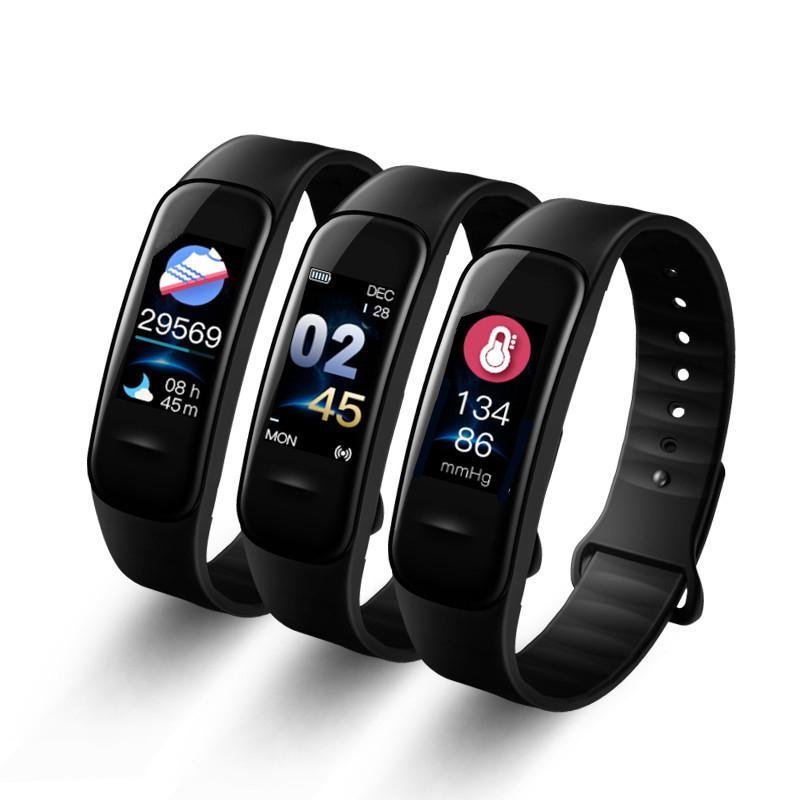 C1s Smart Armband IP67 Fitness Tracker Blutdruck Herz Rate Monitor Schlaf Tracker Armband Für Android IOS