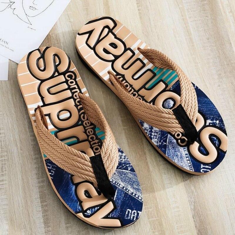 WEH sliders flip flop man Slippers 2020 trend Summer Anti-skid Outdoor Light Casual Beach Male Sandals Household slides for men