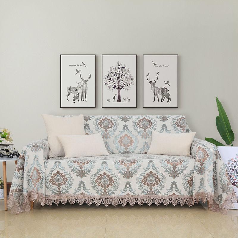 High quality  sofa cover Chenille  Cotton  1/2/3/4 seat simple sofa case Slip-resistant Sofa Cover Customized Sofa Cover