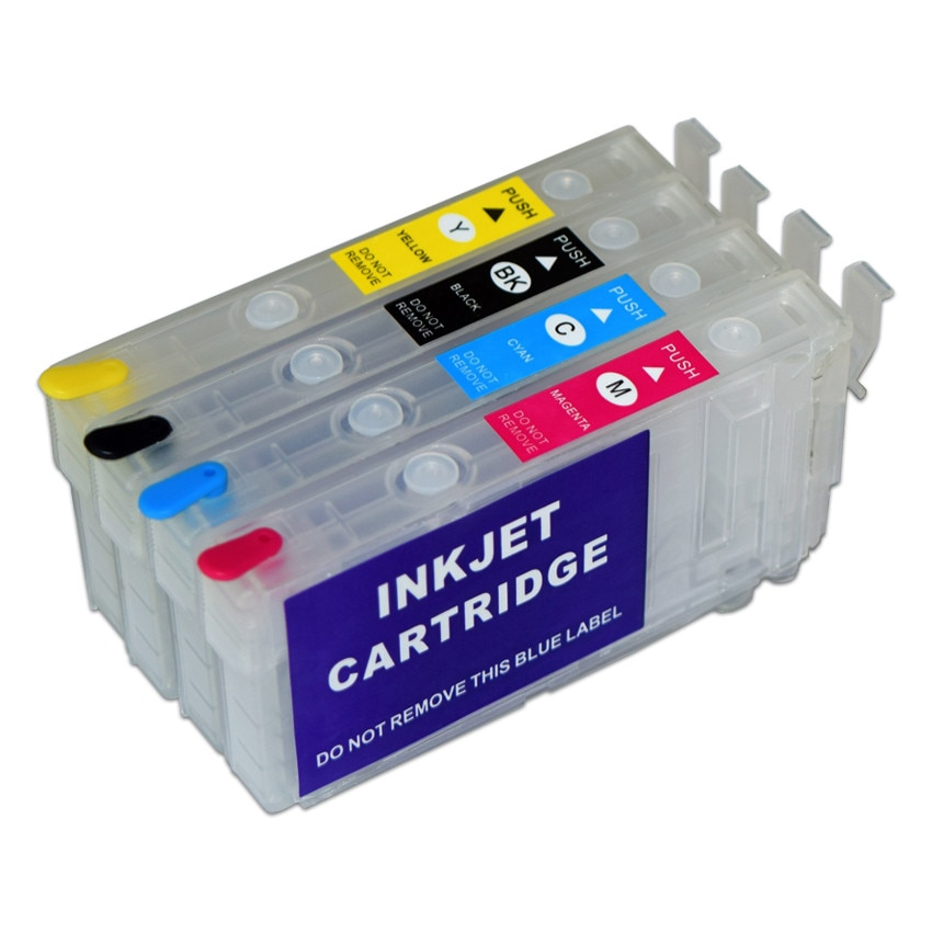 T802 T802XL Cartucho de Tinta Recarregáveis sem Chip para Epson Workforce WF-4720 WF-4730 WF-4734 WF-4740 EC-4020 EC-4030 EC-4040