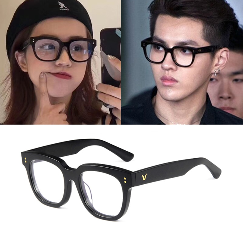 20201 Fashion Luxury Brand Design Square Big Frame Glasses Oversized Optical Glasses Frame Spectacle
