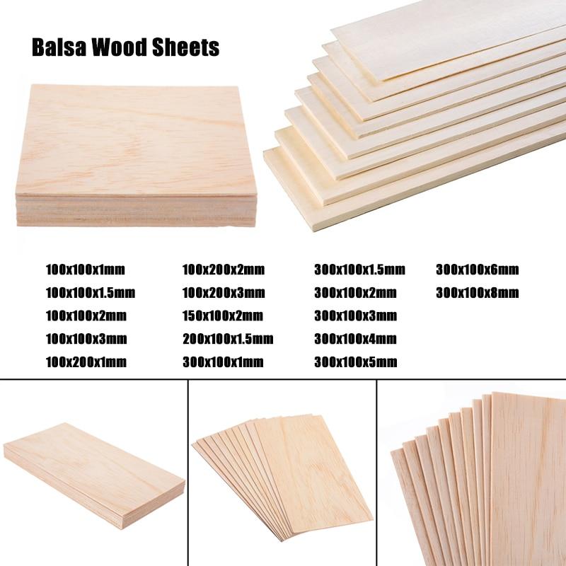 aliexpress.com - 5/10PCS  Thickness 1-8mm Balsa Wood Sheets DIY Model Wooden Plate for Aircraft Ship Wood Craft Model Building
