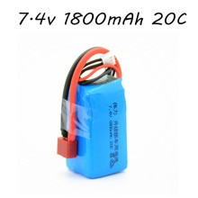 Hobby Hub 7.4V 1800mAh 2s 20C Lipo Battery For Wltoys A959-b A969-b A979-b K929-B RC Car Spare Parts