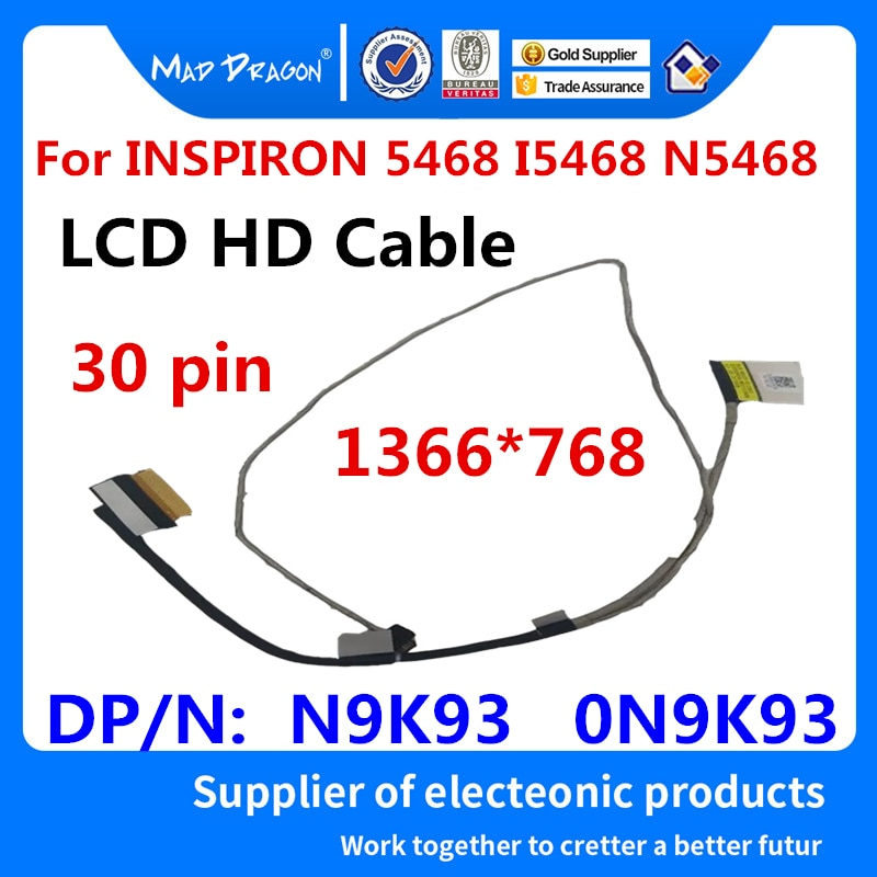 MAD DRAGON Brand Laptop New LCD LED LVDS  Cable For Dell INSPIRON 5468 I5468 N5468 BAL60 EDP HD CABL