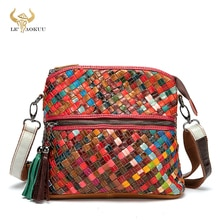 2021 Colorful Genuine Leather Famous Brand Luxury Ladies Designer Patchwork Shopping Purse Handbag O