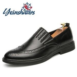 Mens Shoes Casual Leather Oxford Business Office Formal Shoes Evening Dresses Evening Designer Shoes Brogue Shoes Calzado Hombre