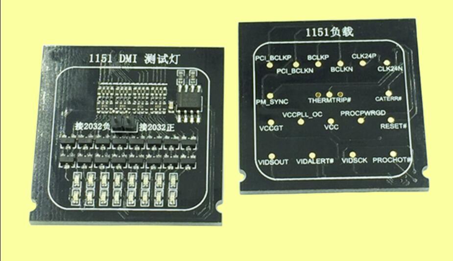 2 in 1 1151 lampe test karte dummy last test stehen desktop 1151 CPU mit licht tester