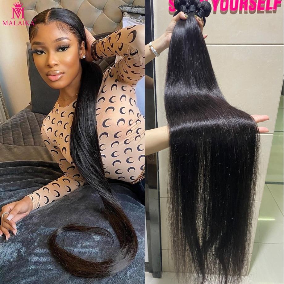 Malaika 40inch Straight Remy Hair Bundles Brazilian Hair Remy Human Hair Extensions 1/3/4 Bundle Dea